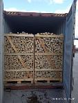 Kiln dried firewood in crates