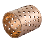 Wrapped bronze sliding bearing - with perforations