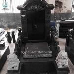 Chineses Style Tombstone Dragon Pillar Carving Monument