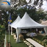 Tente pagode 6x6m pour événement sportif comme centre d'accu