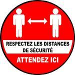 STICKERS RESPECT DISTANCES DE SÉCURITÉ