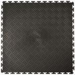 Klickfliese Tränenblech schwarz 50x50cm (B-Ware)