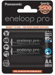 Batterie stilo ricaricabili Eneloop Pro 2pz