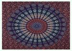 indian Peacock Mandala cotton Bedding Tapestry