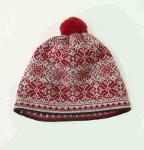 100% Wool Pompon Hat 'NORDIC STAR'