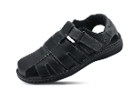 Men's sandals in black with comfortable footbed