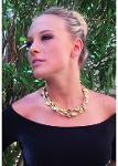 Collana Gold 3 fili in Vetro di Murano