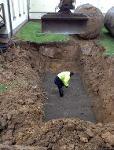 Citerne à mazout enterrée