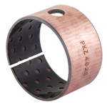 Wrapped composite sliding bearing steel / PEEK*