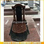 Russia Style Popular Black Galaxy Granite Headstone