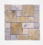 Roman Pattern Set Scabos Travertine Tumbled Mosaic