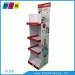 Cardboard corrugated POP shelf display