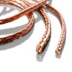 Square copper braids made from copper and copper alloys