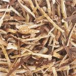 Dry shredded shiitake mushroom