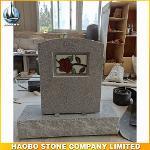 Beautiful Carving Rose Granite Tombstone Wholesale