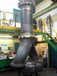 Pump in hydraulic test 2000kg height 3600mm