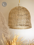 Bell-shaped Seagrass Pendant Light