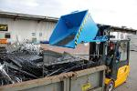 Swarf container type SKM, forktlift truck attachment