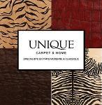 Tapis design cuir et fourrure