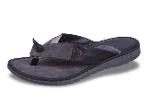 Dark blue men's slippers from genuine leather