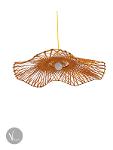 Flower-shaped Bamboo Pendant Light