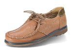 Men's brown shoes with suede elements