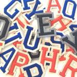 Lettere e numeri termoadesivi e da cucire
