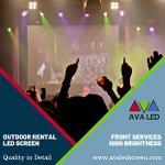 Sistemas de tela LED para área de concertos abertos