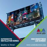 Tela LED de anúncios de rua