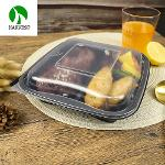 Disposable Leak Proof Pp 3 Compartment Takeaway Plastic Food Box