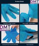 TPE Blue Gloves Black  Hybrid Blue Nitrile Hybrid Gloves