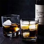 10 oz Crystal Glasses Square White Spirits Mug Scotch Cups