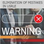 Correction of mistakes in USRLE