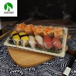 Bagasse Paper Bamboo Fiber Disposable Compostable Sushi Bento Box