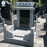 Chineses Style Monument Dragon Carving Headstone