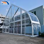 25M Clear Span Transparent Large Curve Marquee Tent...