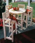 Table mange-debout & chaises bistro