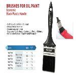 Brushes for oil paint economic black plastic handle