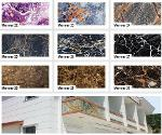 Marble patterned coating panels