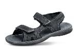 Men's sport sandals made of black nubuck