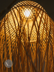 Creative Bamboo Pendant Light with Jellyfish Shape