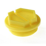 N401 Bouchons filetés jaunes