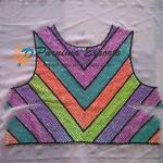 Sequin Embroidered Garment Panel - Job Work India