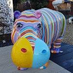 Hippopotame en résine