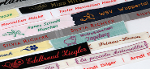 Embroidered name labels