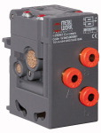 Two-handed safety valve, without console, Quick-connect plug