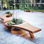 Banc urbain Botanic Twist
