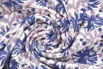 Indian Flower Hand Made Block Print Cotton Fabric