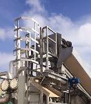 Sistema de tamices rotatorios en estructura