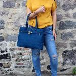 Smyrna Cork Handbag – Blue